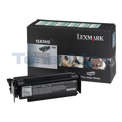 LEXMARK T420 TONER CARTRIDGE BLACK RP 10K